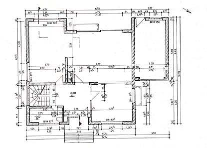 Wonderful Und Hier Seht Ihr Noch Der Grundriss Eines Wirklichen Hauses Mit  Bemaßungen. Es Ist Eine Bauzeichnung.